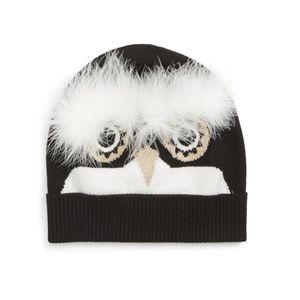 Kate Spade Penguin Intarsia Beanie knit Hat